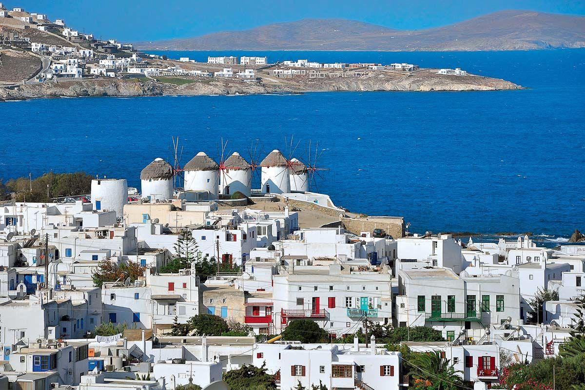 P 233 Riples Dans Les Cyclades Depuis Ath 232 Nes Mykonos Et