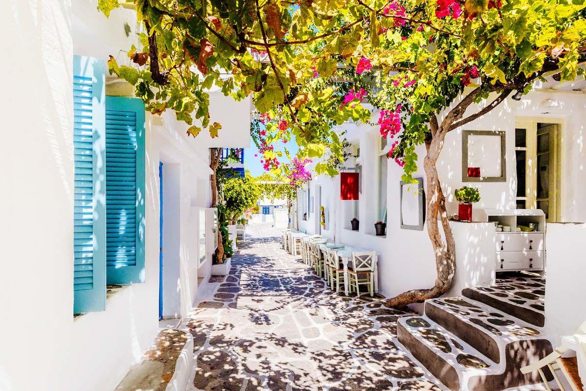 Combinés dans les Cyclades depuis Santorin - Santorin, Naxos, Amorgos, Paros en 4*