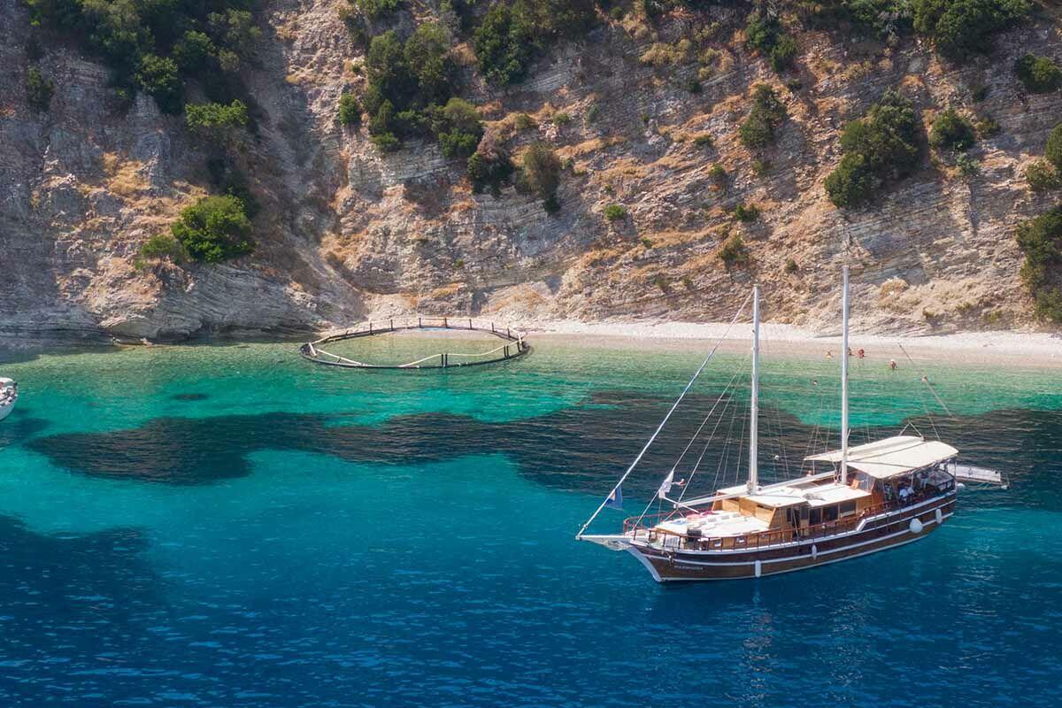 Croisière Rivages Ioniens en Caïque au départ de Corfou